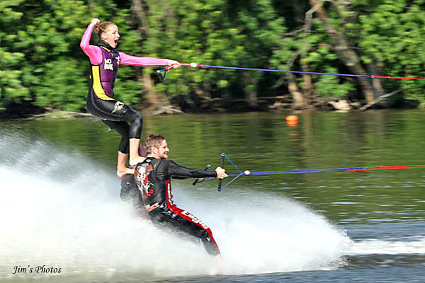 Must-Skis barefoot pyramid at Mercury Marine Open